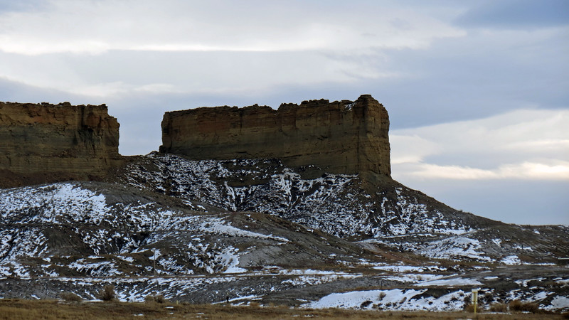 These vertical sheer rock faces are known as Rimrock.