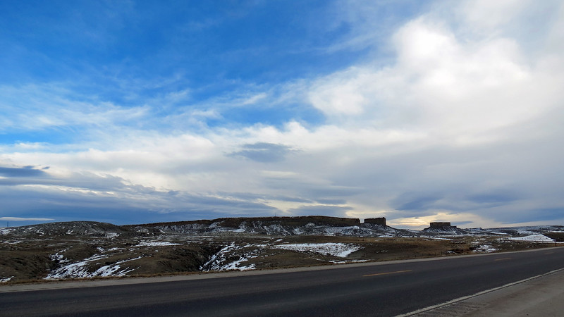 From Midwest, Wyoming, we headed south on State Route 259 on our way to Casper.  Route 259 passes by the Salt Creek Oil Field, as well as some amazing scenery.  As is typical with me, we didn't make it more than a few miles before I stopped for pics.