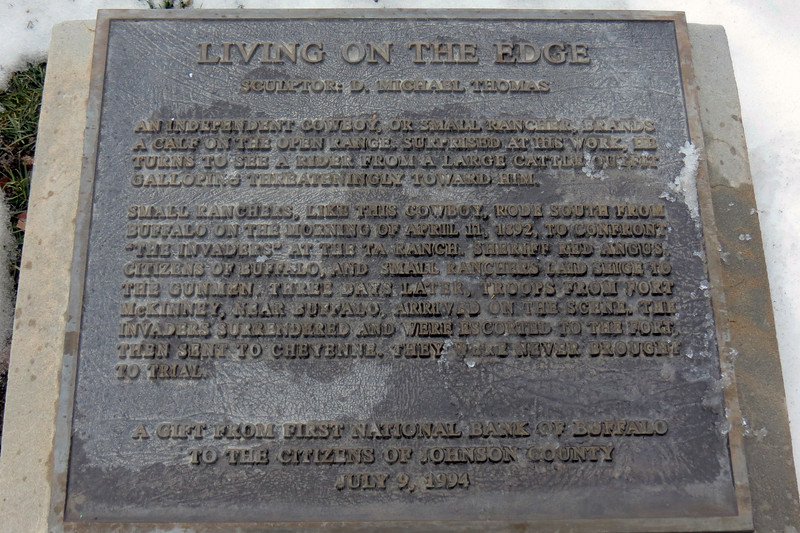 Second marker for the sculptures.