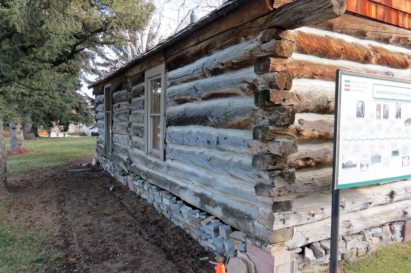 M. D., Sylvia, and their three children lived in the cabin until 1925 when they moved to the Salt Creek Oilfield area.  The cabin was sold and moved to a nearby ranch and used for grain storage.  <br /> <br /> Almost 60 years later, the youngest daughter, Polly (Jenkins) Oltion, purchased the cabin and moved it to the town of Story, Wyoming in 1982.  In 2005, Polly donated the cabin to the museum.