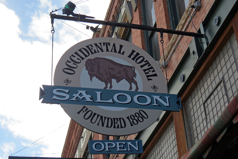 Buell's idea took off, and business was good.  It was so good that in 1880, Buell replaced his tent with a two-story log building that had six guest rooms, a saloon, a kitchen, and a stable for horses.