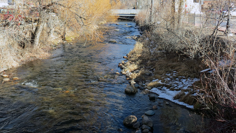 Looking east at Clear Creek, Buffalo, Wyoming.