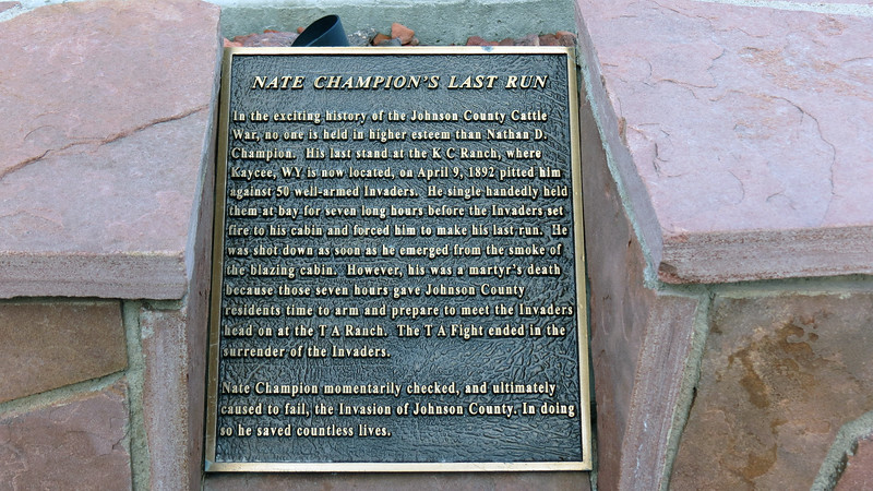 """In April 1892, a posse of 50 armed """"Invaders"""" arrived in Johnson County with a list of """"rustlers"""" to round up and kill.  And since they didn't get him the first time, Nate Champion's name was at the top of the list.  The Invaders found Champion at the K. C. Ranch and surrounded his cabin.  But they didn't count on the fact that Champion was a formidable opponent.  A shootout ensued where Champion successfully held the posse at bay.<br /> <br /> They also didn't count on the fact that another nearby homesteader witnessed the siege and alerted homesteaders in the nearby town of Buffalo to what was happening.  Champion was eventually killed in the siege, but held off the Invaders long enough for Buffalo Sheriff William """"Red"""" Angus to organize his own posse and confront the Invaders."""