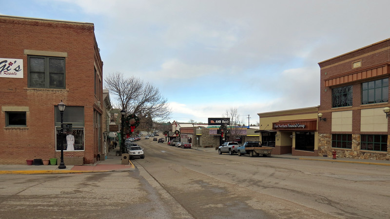 """Heather had several places on the agenda for today.  First was a trip west to Buffalo, Wyoming followed by a drive north into Montana, (so I could say I've driven in Montana).  Finally, we would stop in Sheridan, Wyoming to check out the annual """"Christmas Stroll.""""  <br /> <br /> From Gillette, we headed west on Interstate 90 toward our first stop of the day - the city of Buffalo, Wyoming."""