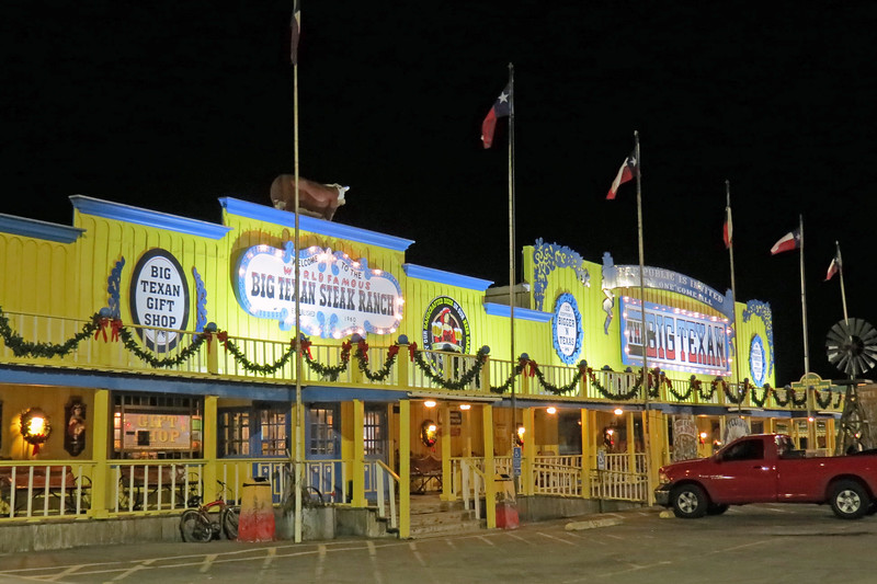 The Big Texan was one of the two reasons why I selected Amarillo for my first overnight stop, (we'll get to the second reason tomorrow morning).