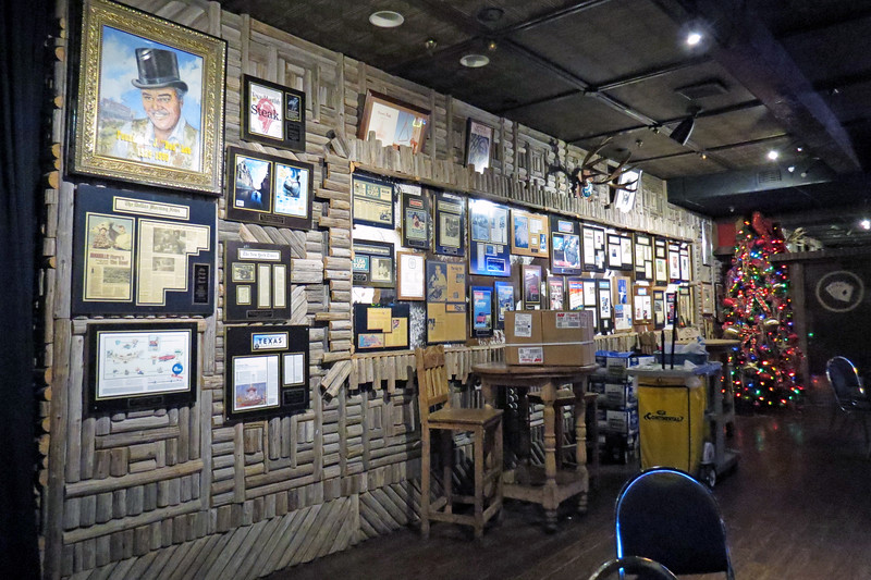 The restaurant building features several individual rooms.  The room seen in the photo above was decorated with all kinds of news articles and old pictures.