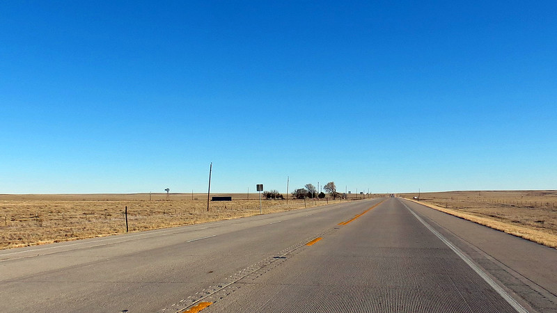 Just like Route 71, this road was also mostly straight, flat, and isolated.