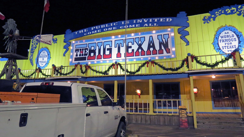 "I've seen numerous ""Top Ten Restaurants"" programs on the Travel Channel over the years.  Any list that pertains to steakhouses almost always includes the Big Texan."