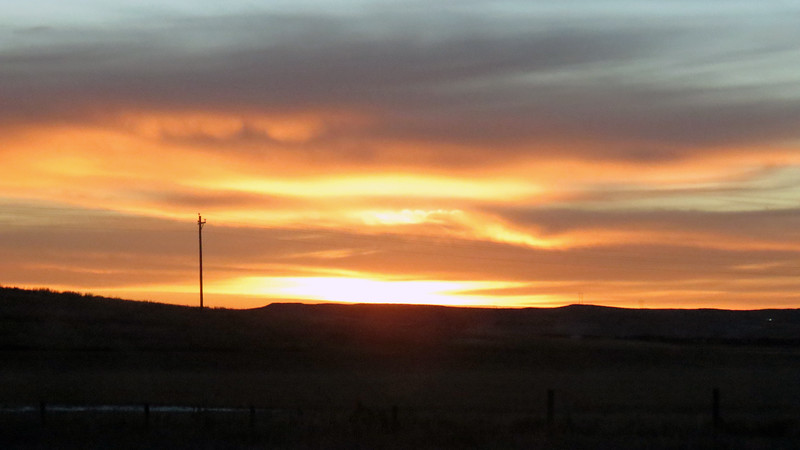 But that was many miles ahead of me at this moment.  For now, I was happy to enjoy the sunrise and its wonderful colors.