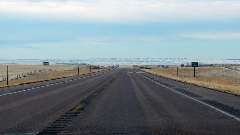 I was about one-quarter of the way into my journey on the Cam Am Highway, and had about 100 miles to go to the town of Lingle and US Route 26.