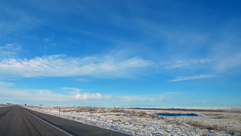 I also noticed that the snow cover seemed to be getting more significant as I drove further south.