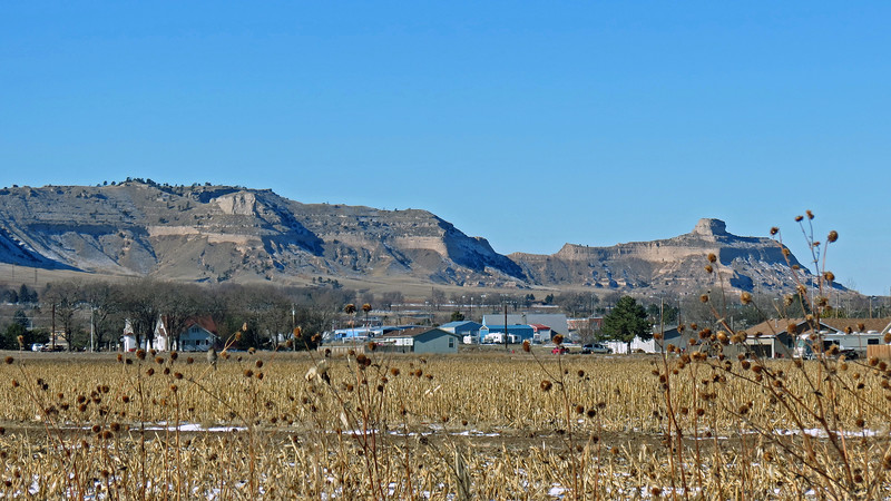"As these stories were circulated, the landmark became known as ""Scott's Bluff."""