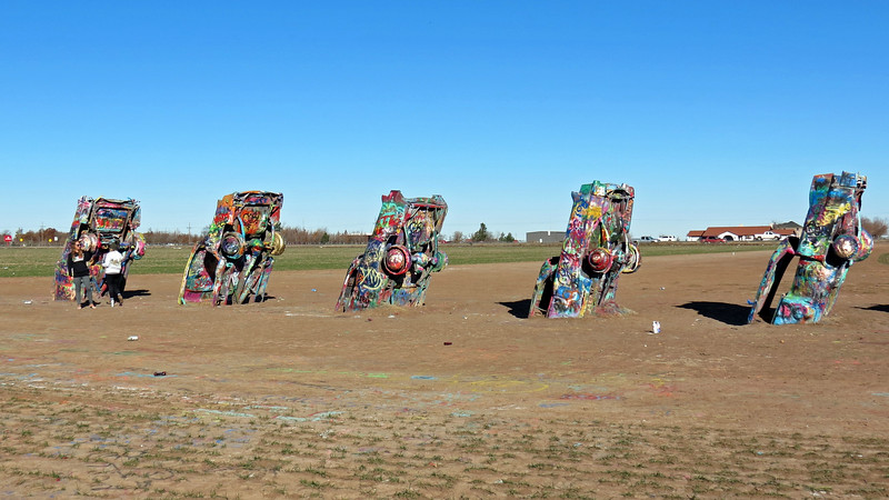 The Cadillac Ranch, Amarillo, Texas.