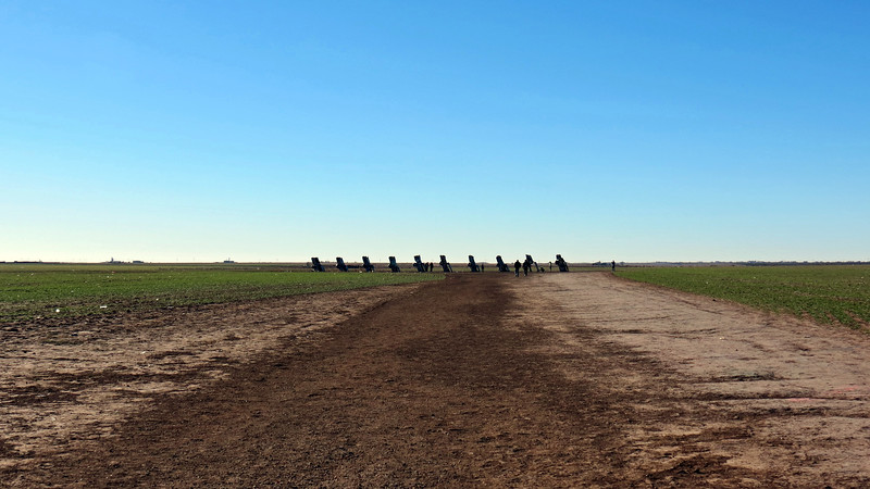 The story of the Cadillac Ranch begins with an art group from San Francisco known as the Ant Farm.  Members of the group approached Amarillo native and slightly eccentric millionaire Stanley Marsh 3 about sponsoring an art project that centered around the evolution of the Cadillac tailfin.