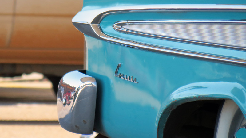 In Edsel's inaugural year of 1958, a convertible was offered in the Pacer and Citation lines with a total of 2,806 cars produced, (1,876 Pacers and 930 Citations).  For 1959, a convertible was only offered in the Corsair line.  This car is one of 1,343 produced that year.