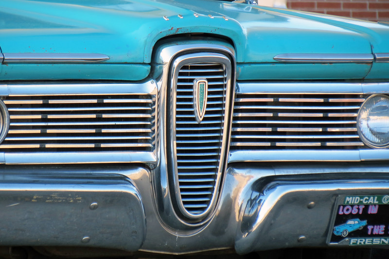 "Edsel's familiar ""horse collar"" grill."