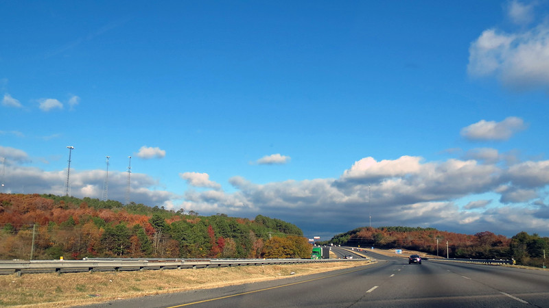 But I could see the clouds building off in the distance as I passed Lake Allatoona and Calhoun, Georgia.