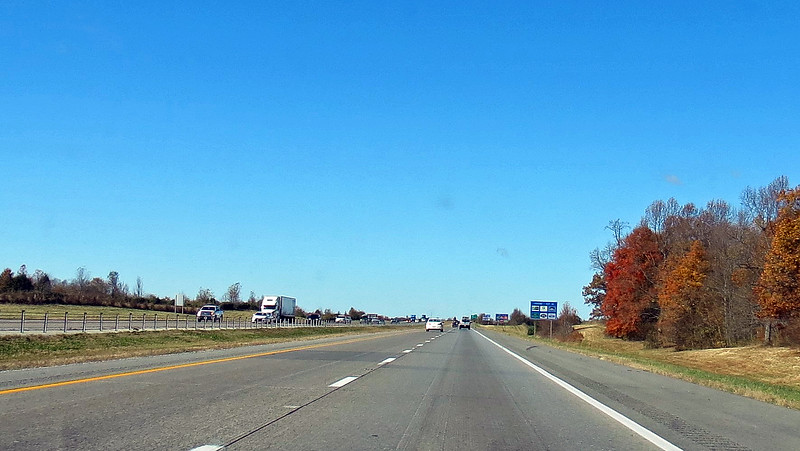 Westbound I-24 near Fort Campbell, Kentucky.