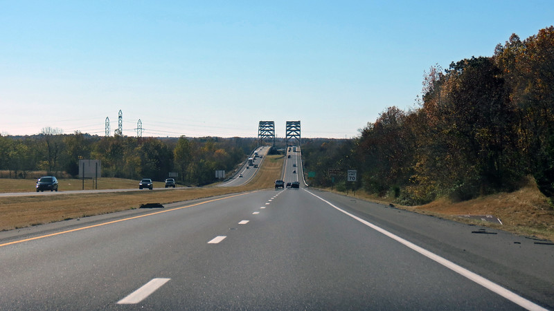The Luther Draffen Bridge then takes motorists over the Tennessee River a few miles up the road.