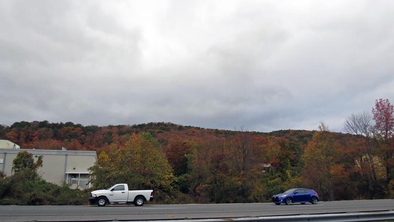 Passing by Dalton, Georgia on I-75.