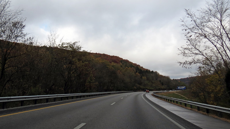 Westbound I-24 outside of Chattanooga, Tennessee.