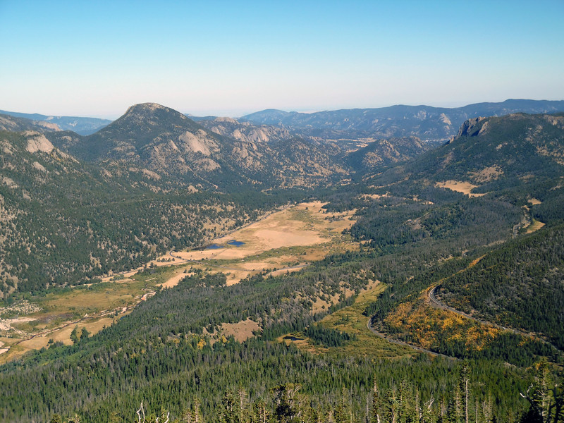 For example, the photo above is another stunner taken by Heather when she first visited Rocky Mountain National Park.   The photo was taken from the Rainbow Curve Overlook along Trail Ridge Road at 10,829 feet and looks out over Horseshoe Park, which sits at roughly 8,550 feet.