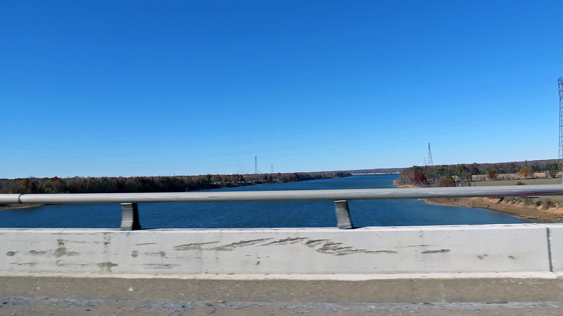 Crossing over the Tennessee River at the Luther Draffen Bridge, Gilbertsville, KY.