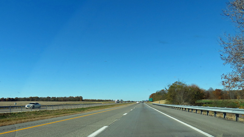 The photos above and below show the very flat scenery around Fort Campbell, Kentucky.