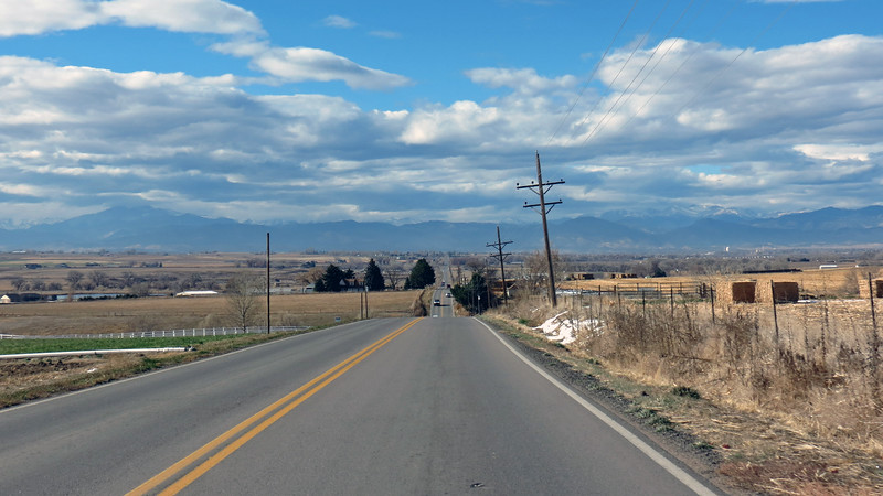 I made a left turn onto County Road 54 and headed west toward the mountains.
