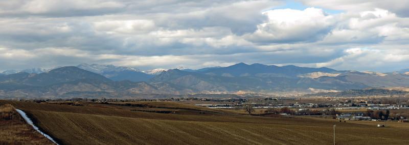 Panorama looking northwest.