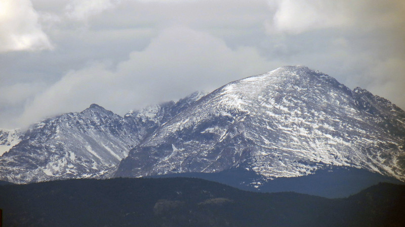 Elk Tooth, 12,848 ft (L), Mt. Copeland, 13,176 ft (R).
