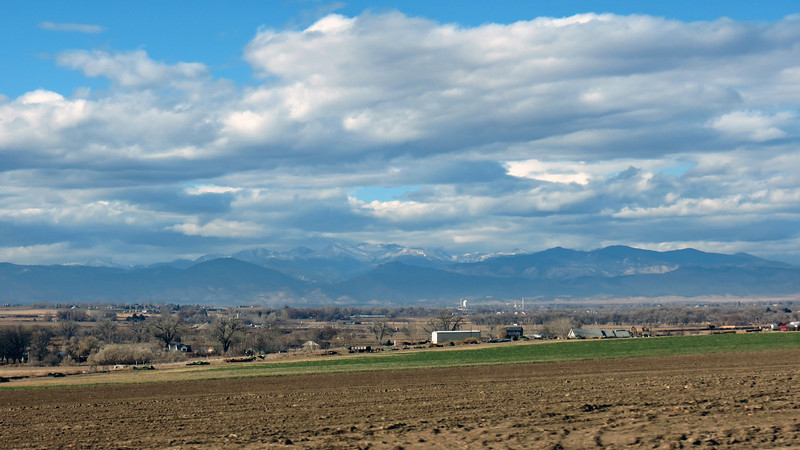The Rocky Mountains dominate the landscape and are visible from just about anywhere in the Greeley area.  If I was ever confused about where I was, I could look for the mountains to orient myself.