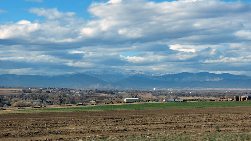 In the photo above, I was looking off to my left.  Seeing the mountains meant I was heading north.