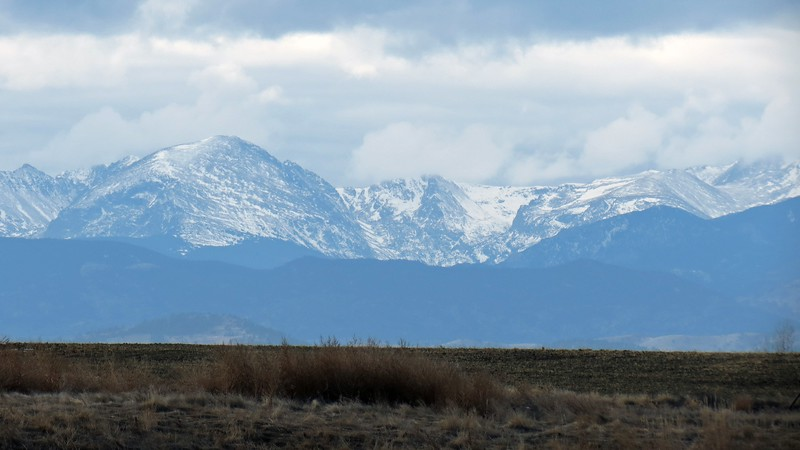 I think Elk Tooth (12,848 ft) and Ogalalla Peak (13,138 ft) are on the far left, followed by Mt. Copeland (13,176 ft).  The peak in the center may be Mahana Peak (12,632 ft), followed by Isolation Peak (13,118 ft).