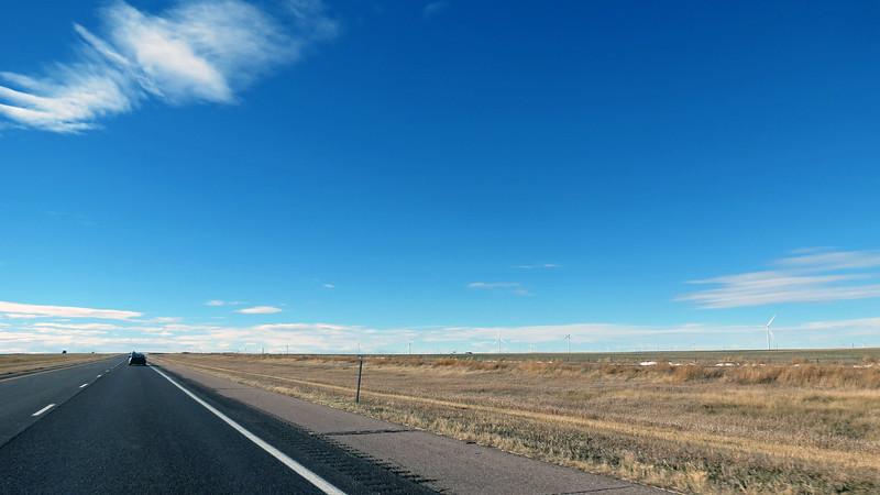 Near mile marker 390 near Arriba, CO.