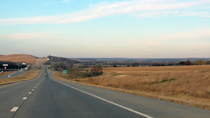 Passing through the Flint Hills region of Kansas.