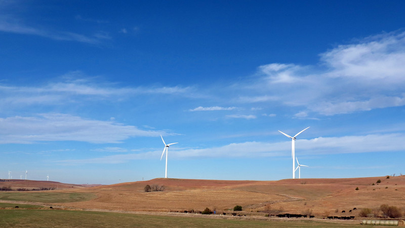 More wind turbines around the corner.