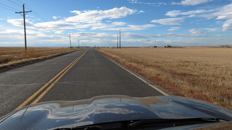Still on a perfectly straight road with not a curve to be found anywhere !