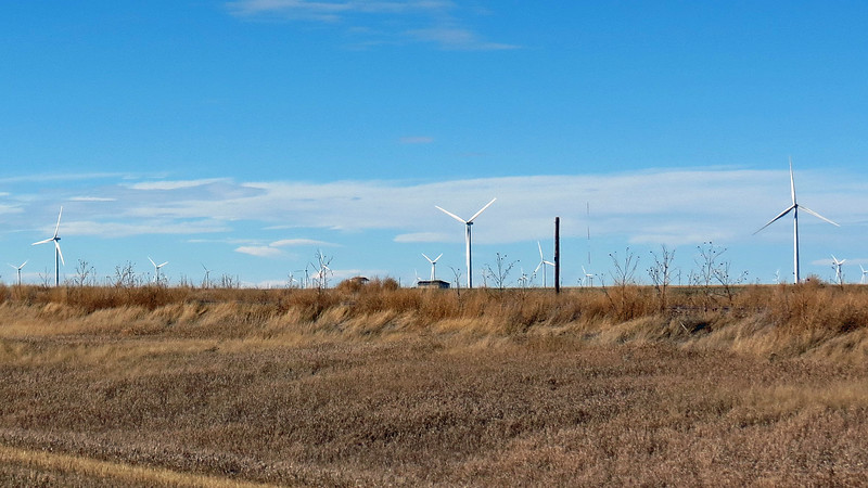 Passing by the Limon Wind Energy Center, Limon, Colorado.