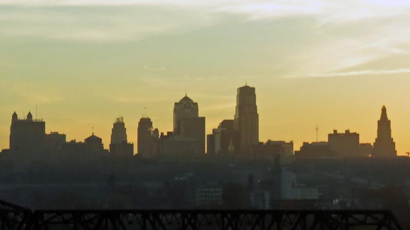 Sunrise over Kansas City Missouri.