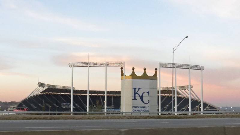Kauffman Stadium is home to the Kansas City Royals MLB franchise.