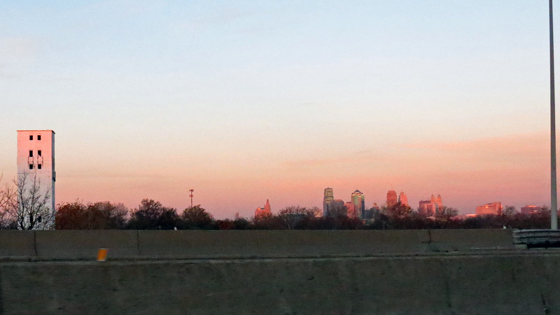 The city skyline was not only getting larger, but also becoming beautifully illuminated courtesy of the sunrise.