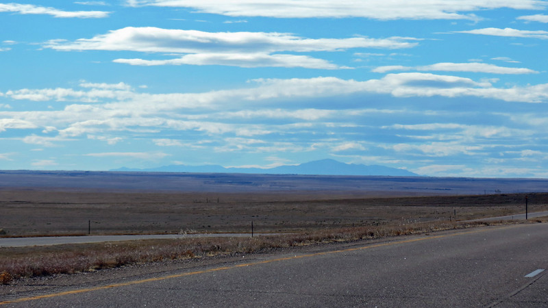 I smiled when all 14,114 feet of Pikes Peak came into view off in the distance !