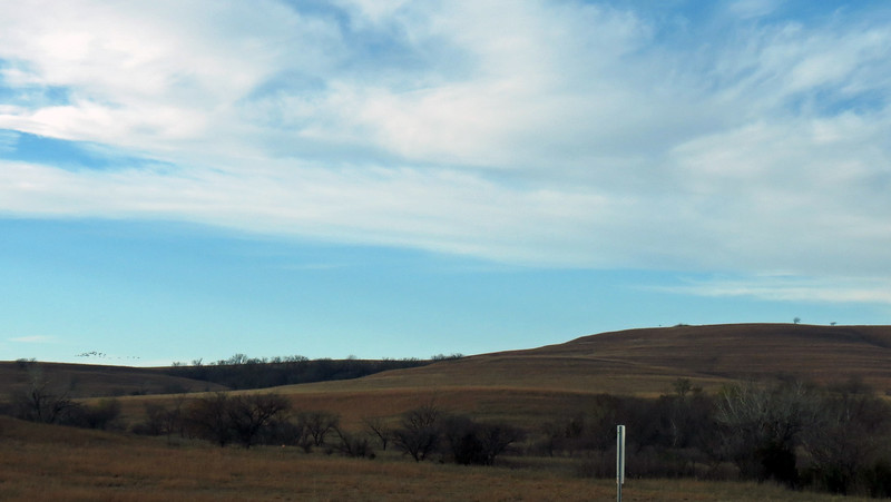 Since it couldn't be converted to farmland, it was used for ranching which left the tallgrass prairies intact.
