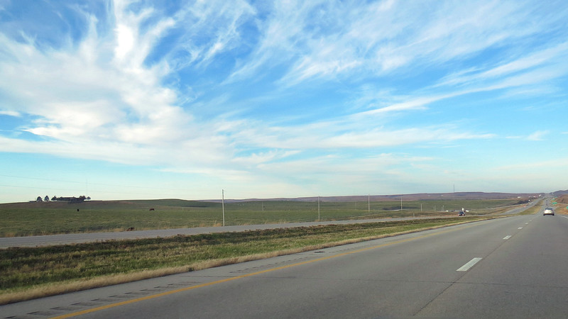 I took the photo above near mile marker 343 where I entered into a part of the country known as the Flint Hills.