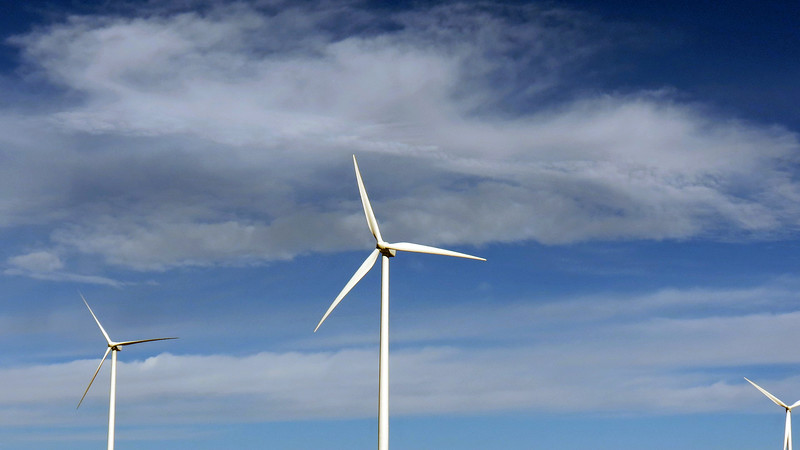 Wind turbines are enormous.