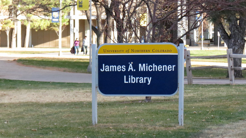 James A. Michener Library.