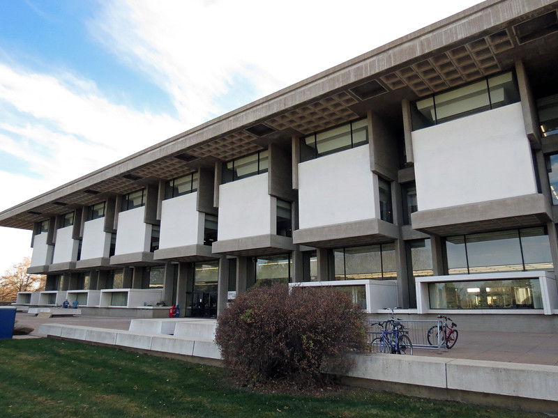 The Michener Library is named after author James A. Michener.