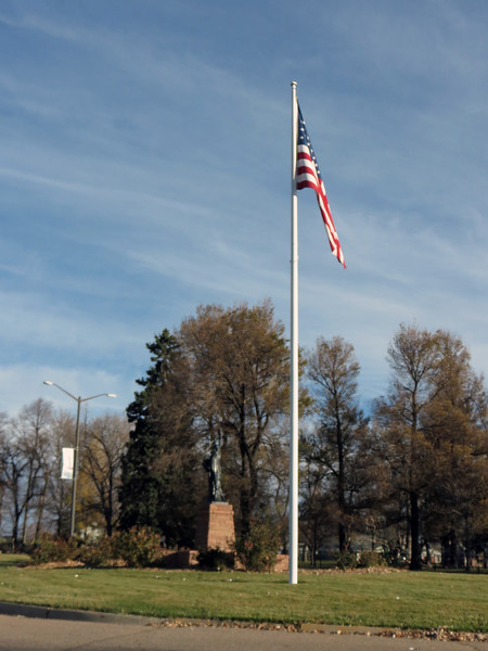 The photo above is of the Veteran's Memorial at Dwayne Webster Park near the center of town.