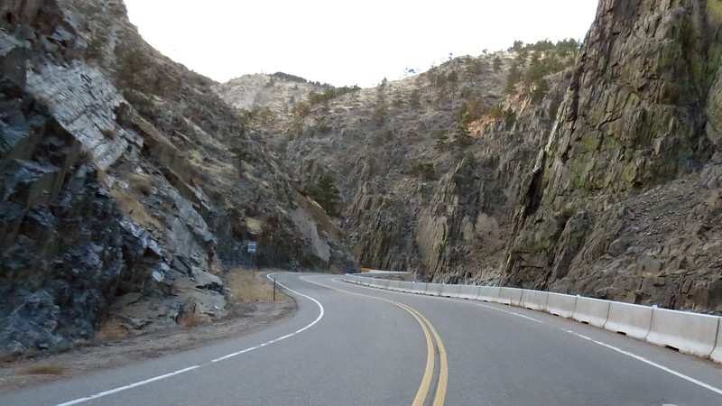 We weren't able to go very far through the canyon because the road was closed ahead.